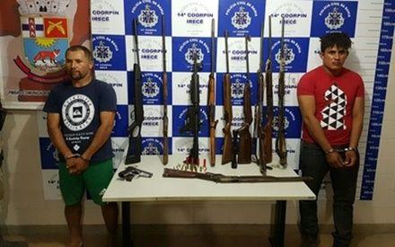 Homens são detidos com armas que podem ser as mesmas usadas em assalto ao banco de Irecê