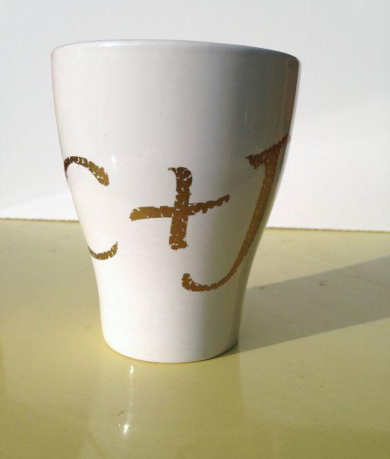 Personalized Initials Mug Wedding Gift Mug by PrintCulture on Etsy, $10.00