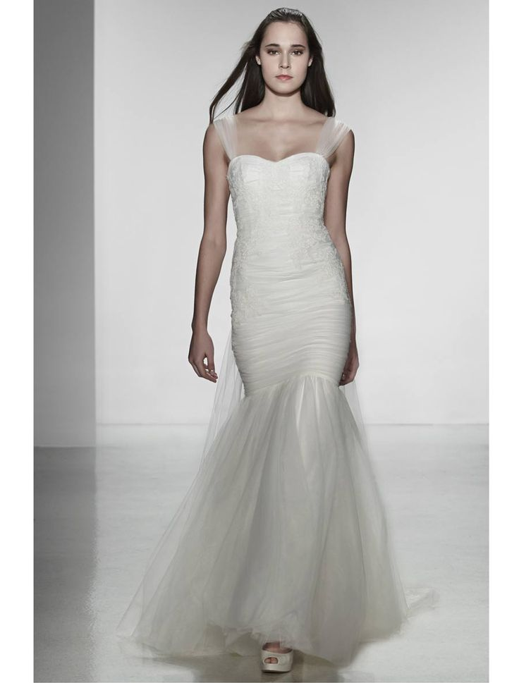 Simple Christos Adele T Wedding Dress Discounted