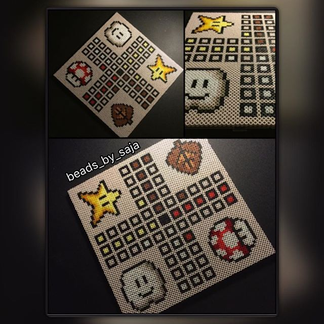 Mario ludo board game hama beads by beads_by_saja