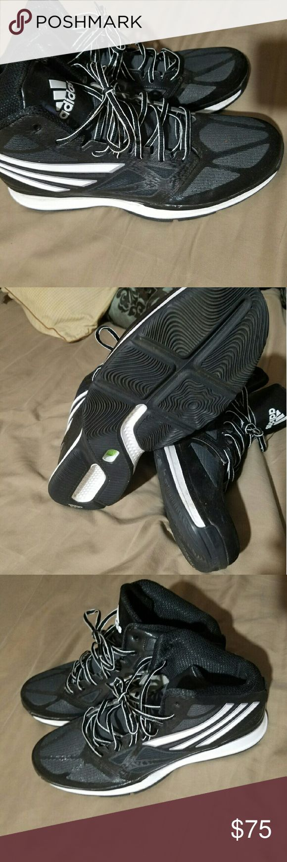 NWOT Men's size 12 Adidas basketball shoes NWOT Men's size 12 Adidas basketball shoes worn once to gym, then changed out of when I realized they were too tight. Adidas Shoes Sneakers