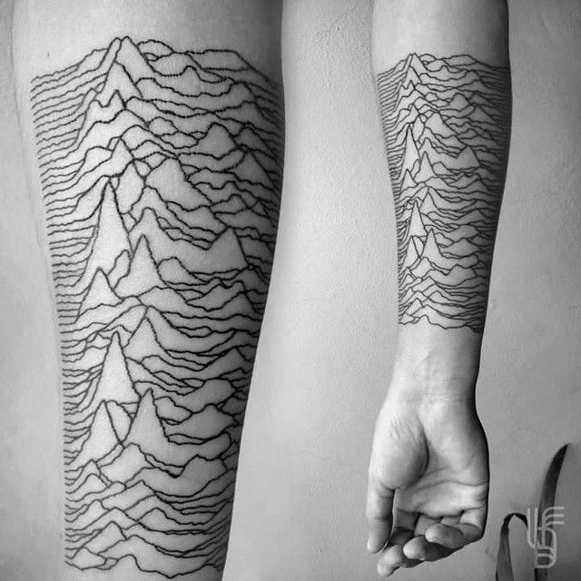 #tattoo #art #ink #joydivision #unknownpleasures #pulsar #tattoing #tatouage #lucianodelfabro
