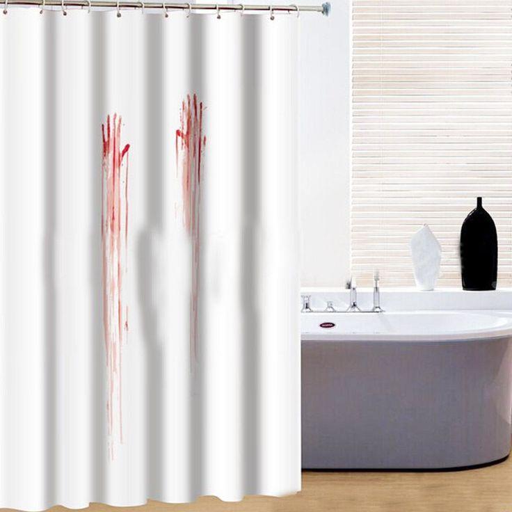 Creative Design Bathroom Bath Waterproof Fabric Shower Curtain Set Halloween