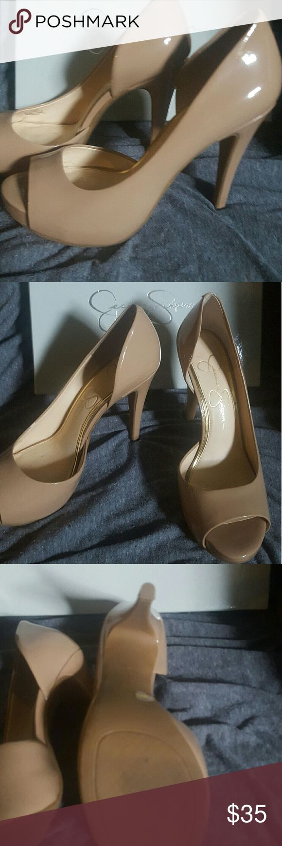 Jessica Simpson nude heels 7.5 Worn once for a wedding Jessica Simpson Shoes Heels