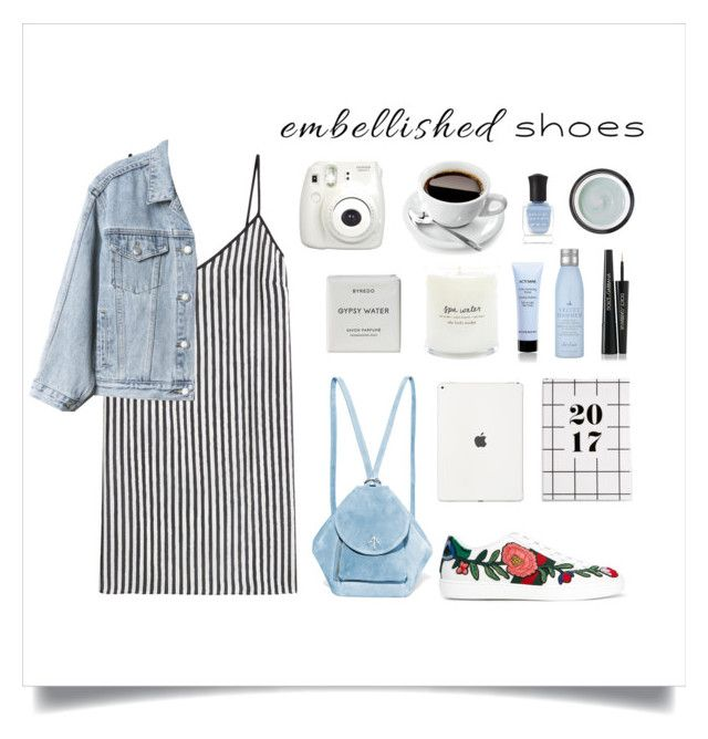 """Street chic"" by thedailywear ❤ liked on Polyvore featuring MANU Atelier, Marco de Vincenzo, Gap, Byredo, Fujifilm, Drybar, Givenchy, Deborah Lippmann, Dolce&Gabbana and Sunday Riley"