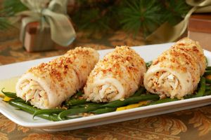 crab stuffed flounder roll-ups