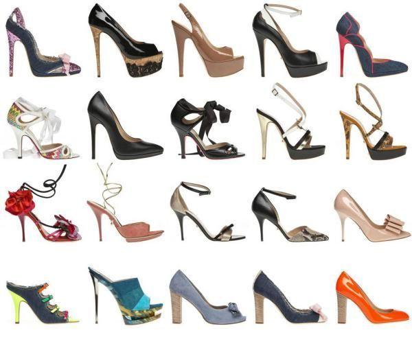 Модели и виды женских туфель