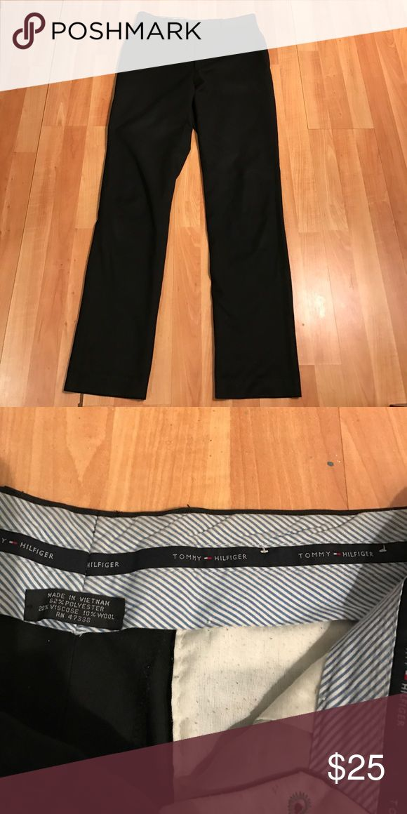 Tommy Hilfiger black pants for sale Tommy Hilfiger Straight black dress pants 52% polyester 20% viscose Tommy Hilfiger Pants Chinos & Khakis