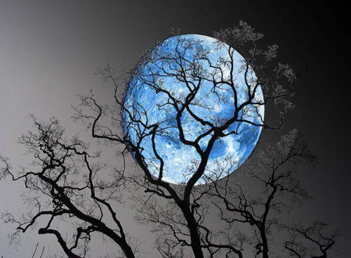 Winters blue moon