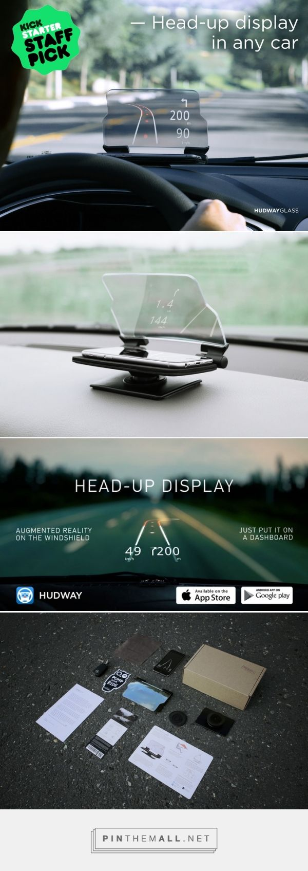 HUDWAY Glass: keeps your eyes on the road while driving by HUDWAY — Kickstarter - created via http://pinthemall.net