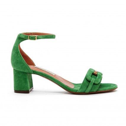 SUEDE SANDALS - CAPER GREEN