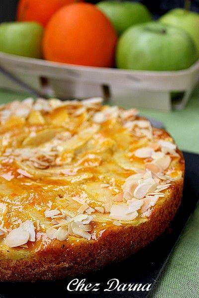 Une recette toute simple,rapide,facile pour un gâteau tout moelleux et délicieux à préparer en un clin d'œil et que je fais souvent.. Un gateaux aux orange et pommes mais qu'on peut aussi faire avec d'autres fruits.. avec des poires, des pêches, nectarines,...
