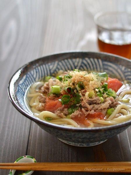 トマト肉うどん by 西山京子/ちょりママ | レシピサイト「Nadia ...