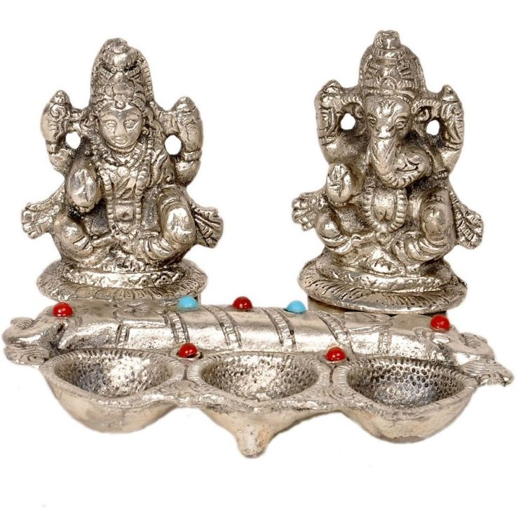 56% off on White Metal Lord Laxmi Ganeshas With Diya Set #onlineshopping  http://goo.gl/QDjRgg