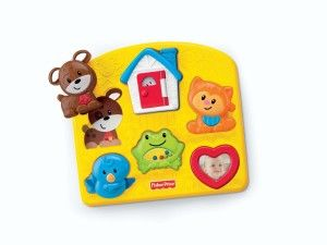Fisher Price Toys 6-12 Months: Brilliant Basics Activity Puzzle Each of the pieces either have texture or a unique sound. The pieces shake the rattle, open and close the window of the little house and look at themselves in the mirror.  http://awsomegadgetsandtoysforgirlsandboys.com/fisher-price-toys-6-12-months/ Fisher Price Toys 6-12 Months: Brilliant Basics Activity Puzzle