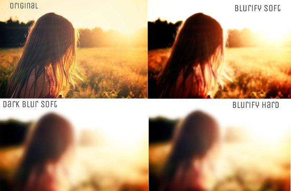 6 Blurred Background Maker Photoshop Actions by Symufa on Etsy