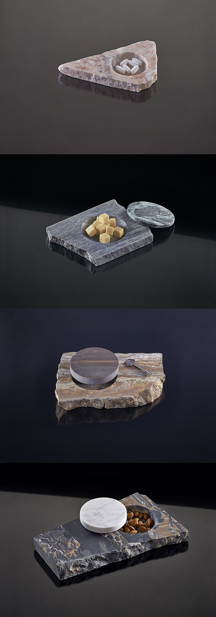 Designer Makes Gorgeous Tableware From Scrap Stone And Wood