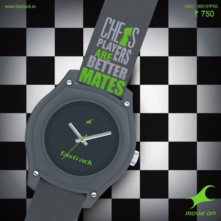 Save your lines. You won't need them when you've got one of our awesome new Tees watches on!  #Tees #Fastrack #Lines #Watch #Fashion #Design #Watch #Unisex #Chess