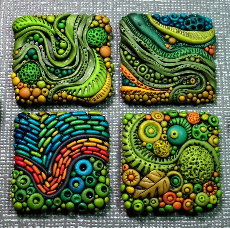 polymer clay art tiles - Google Search
