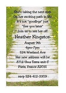 The 25 best Going away party invitations ideas on Pinterest