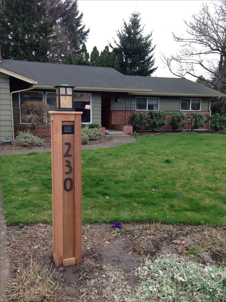 craftsman lamp post with address numbers for the home. Black Bedroom Furniture Sets. Home Design Ideas