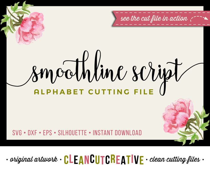Full Alphabet SVG Fonts Cutfile   Modern Handwritten Script cricut font    DXF EPS   Silhouette Cameo   clean cutting digital files by CleanCutCreative  on. 17 Best images about Alphabets Fonts SVG DXF cut files for Cricut