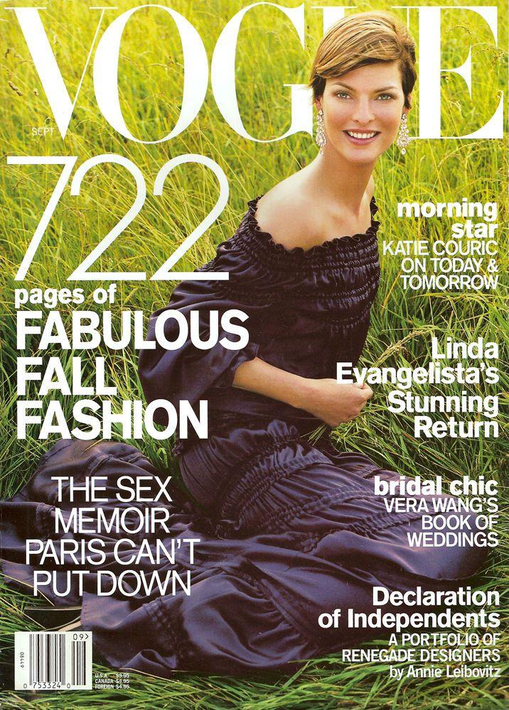 Linda Evangelista by Steven Meisel Vogue US September 2001