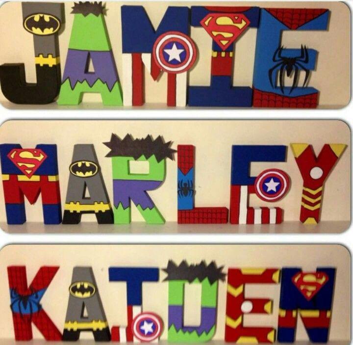 Super hero names! Child's room.
