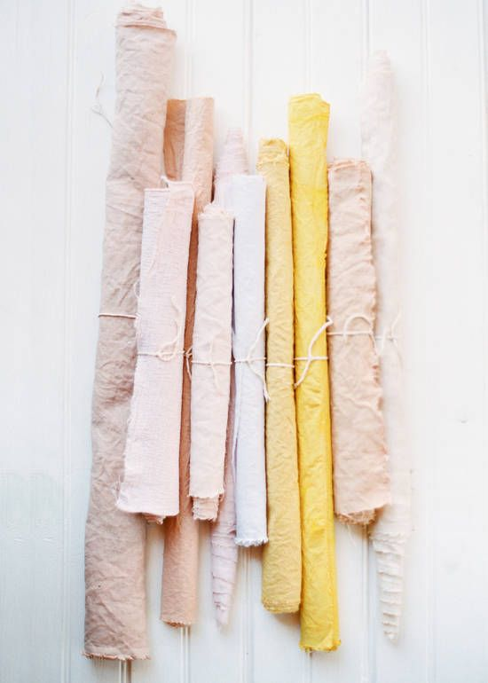 fabric dyeing DIY | designlovefest