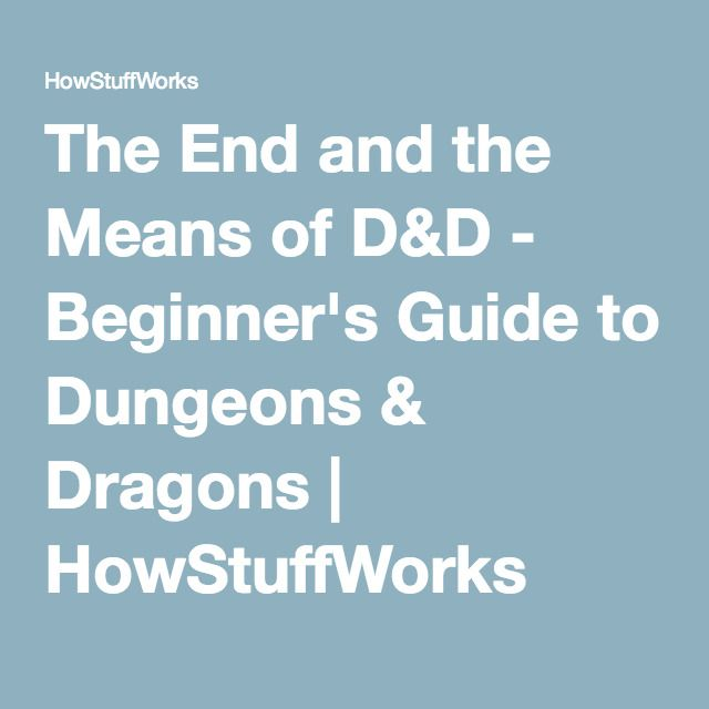 dungeons and dragons beginner guide