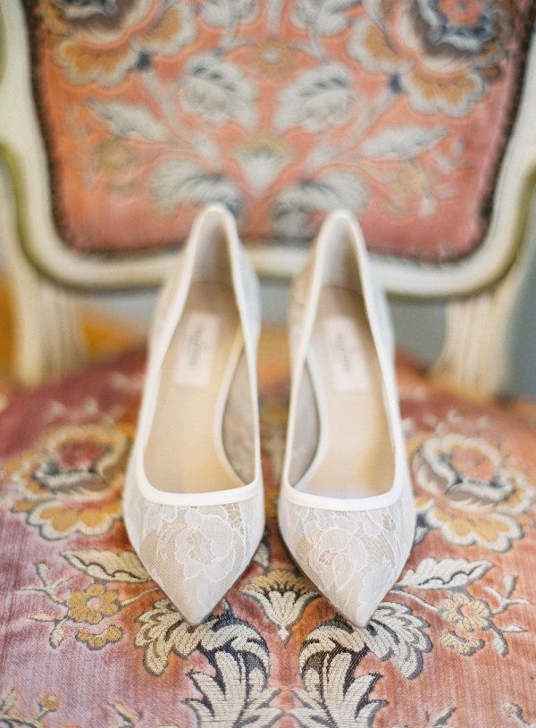 white lace heels by http://www.badgleymischka.com/ how fitting for a Bride  Photography by http://jemmakeech.com