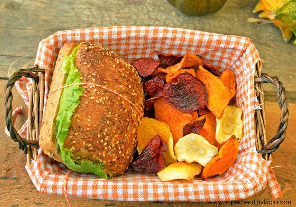 Root Veggie Chips - Healthy Lunch Idea for Kids