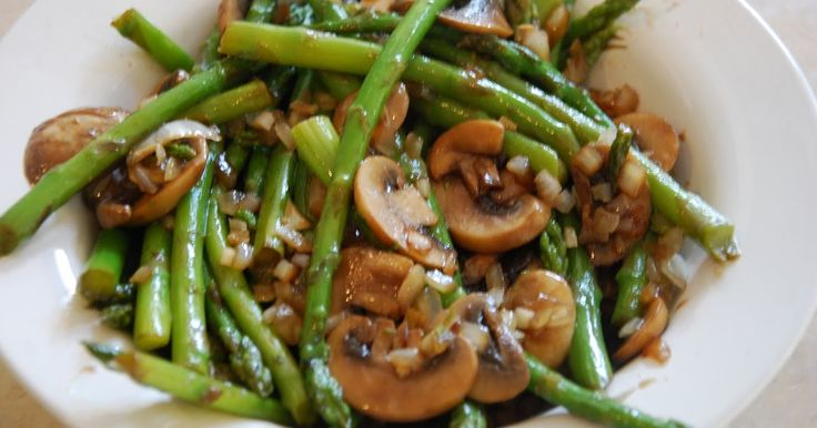The Stockwell Diet: Sauteed Asparagus with Mushrooms