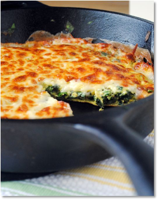 Low FODMAP Herb, spinach and Brie frittata - gluten free recipe http://www.ibssano.com/low_fodmap_recipe_herb_brie_frittata.html
