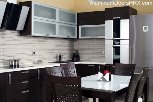 Aluminum door kitchen cabinets are a great choice to for Improve kitchen cabinets