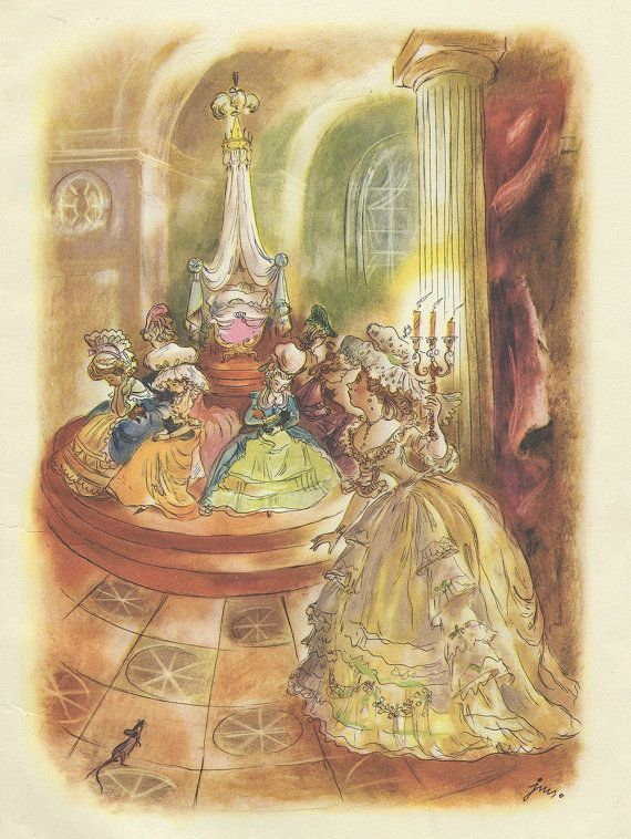 """The Nutcracker and the Mouse King"""" 1951 - illustration by J. M. Szancer"""