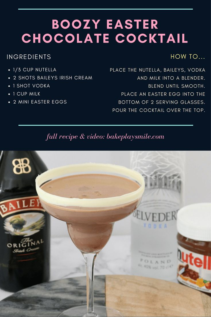 Boozy Easter Chocolate Cocktail