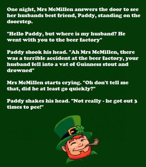 irish jokes for adults