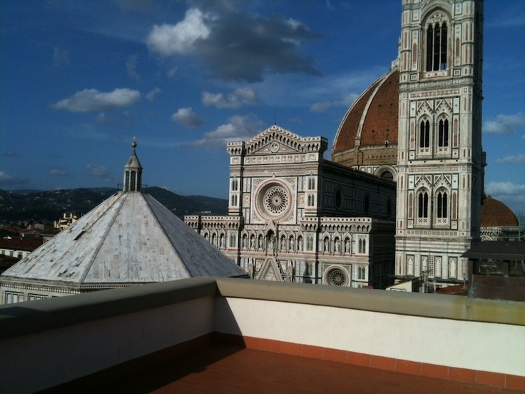 the terrace on the roof in florencewithaview.com