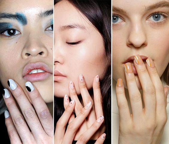 Fall/ Winter 2015-2016 Nail Trends: Minimal Nail Art #nails ...
