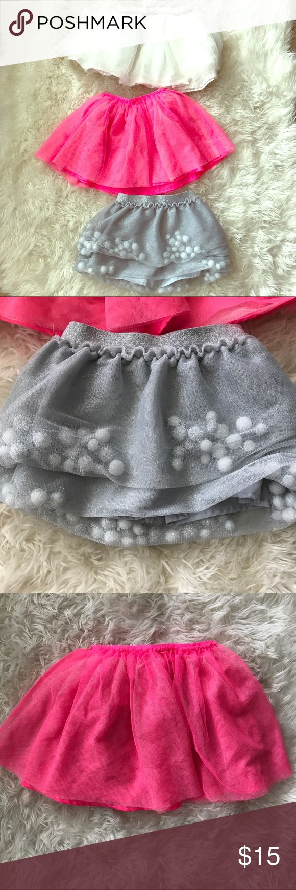 Bundle Girls Tutus (see description for size info) 3 Tutus ranging from size 18m - 4T. They should all fit between 2-4 yr old. From cat & jack and carters. Bottoms Skirts