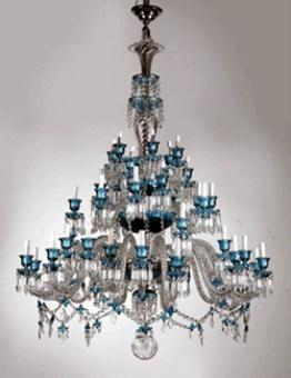 Baccarat crystal chandelier.