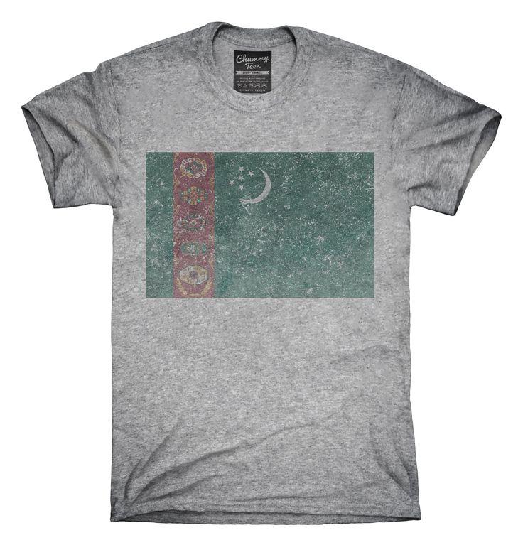 Retro Vintage Turkmenistan Flag T-Shirts, Hoodies, Tank Tops