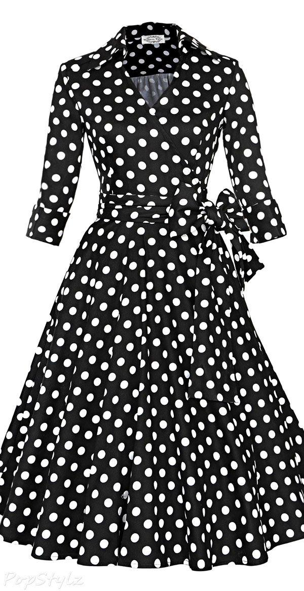 Vintage 50s 60s Rockabilly Swing Dress