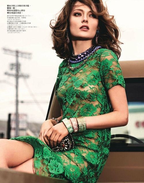 Olga Maliouk by David Burton for Elle Taiwan (May 2012).
