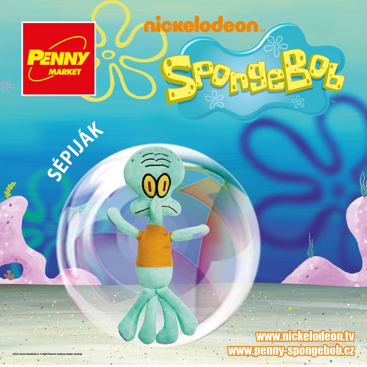 Chobotnici a medúzu zároveň připomíná postava Sépijáka, jehož koníčkem je hra na klarinet. Je to samotářský mrzout, který nejvíce touží po klidu.    Sbírejte známky za nákupy v Penny a získejte plyšového Sépijáka! Za každých 200 Kč nákupu dostanete 1 známku. Více informací o známkách a cenách SpongeBoba a jeho kamarádů najdete na www.penny-spongebob.cz.