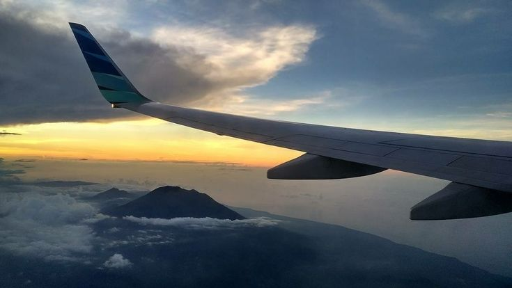 somewhere up the sky head to Makassar with Mt Agung beneath me at it finest moment.