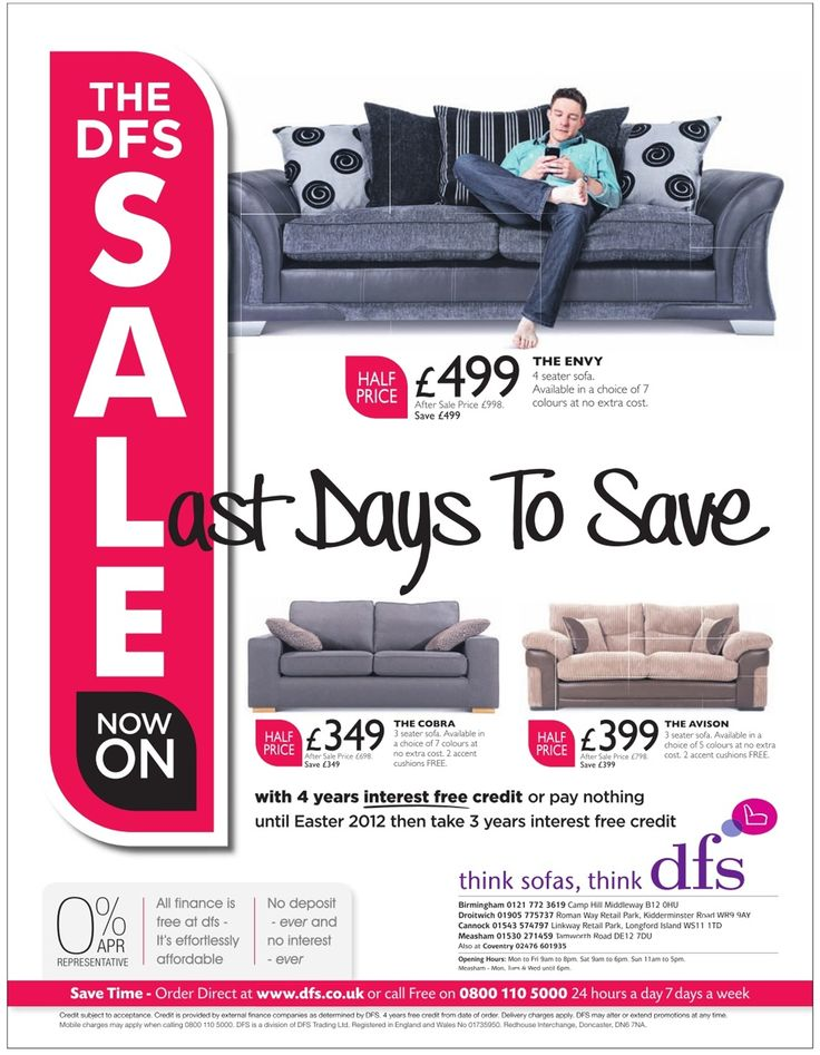 The DFS Furniture Sale Now On Last Days To Save 4 Years Interest Free Middleway