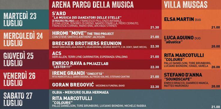 Grandissimo appuntamento internazionale a Cagliari, che si rinnova anche quest'anno, con l'European Jazz Expo 2013. Il programma si svilupperà in due fasi: dal 23 al 26 luglio, presso il Parco della Musica di Cagliari, dove si svolgeranno la maggior parte dei concerti con gli artisti di fama internazionale e dove verrà allestita la Trade Area, con stand per esposizioni già prenotati da numerose imprese del settore culturale e non solo... #JazzCagliari #Jazzsardegna #Jazz