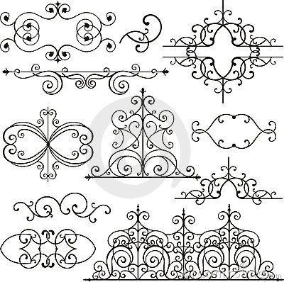 Wrough iron ornaments